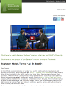 SHAHEEN HOLDS TOWN HALL IN BERLIN