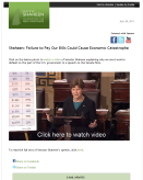 Shaheen: Failure to Pay Our Bills Could Cause Economic Catastrophe (July 28, 2011)