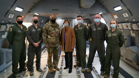 2.23.21 Shaheen with General Brown and members of the 157th