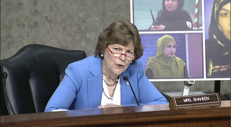 Shaheen at SFRC hearing on U.S. Withdrawal from Afghanistan