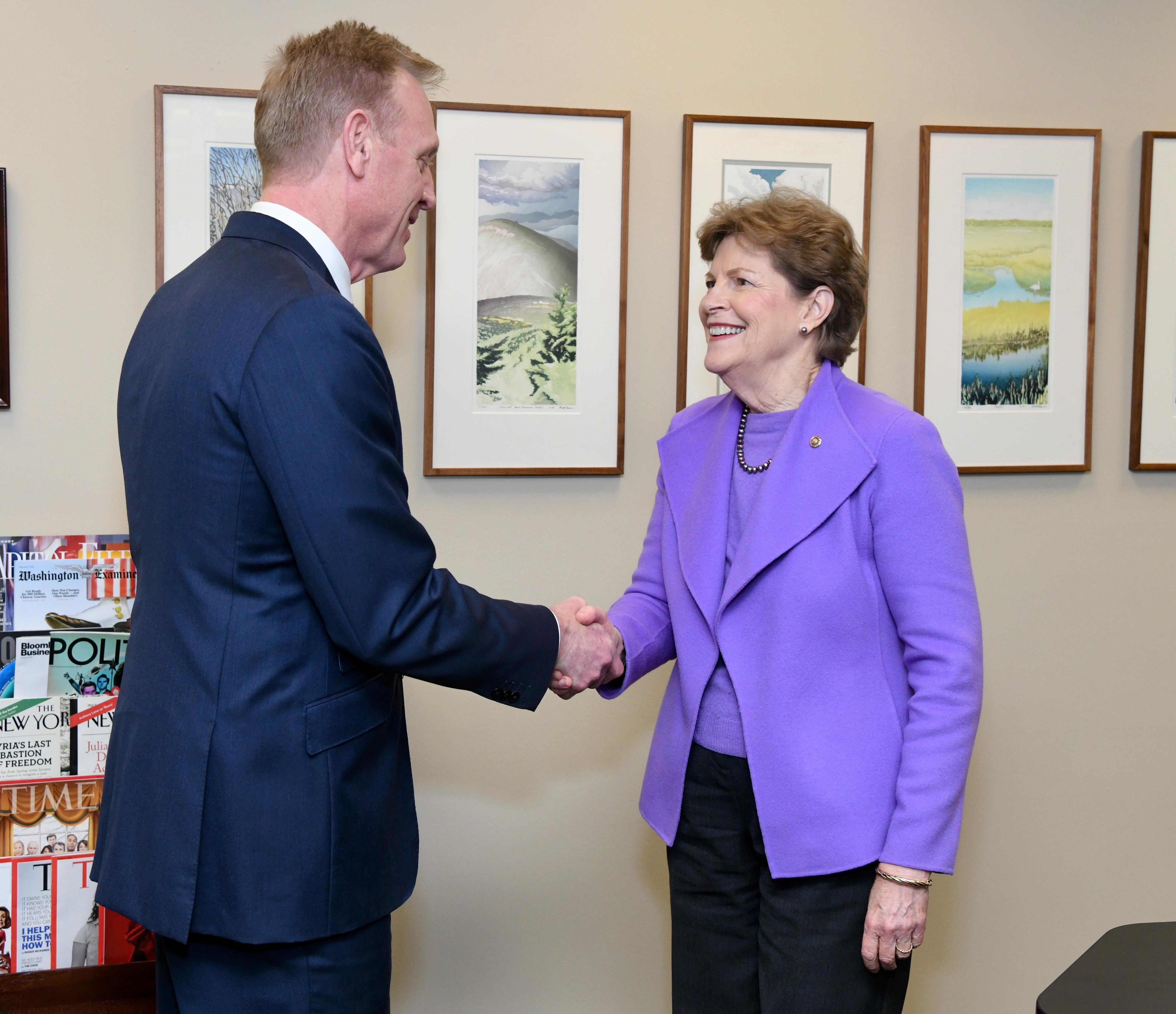 Senator Shaheen and Secretary Shanahan