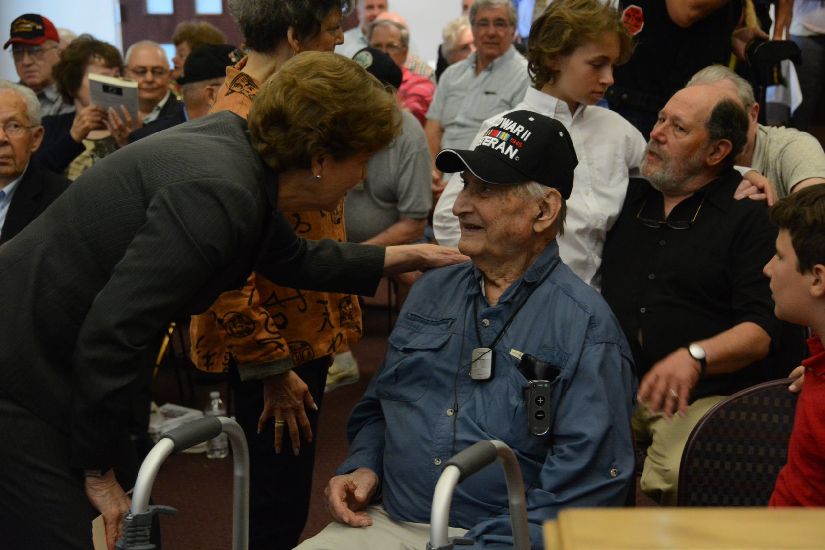 Presenting Captain Martin Gelb with the Congressional Gold Medal for his service during World War II