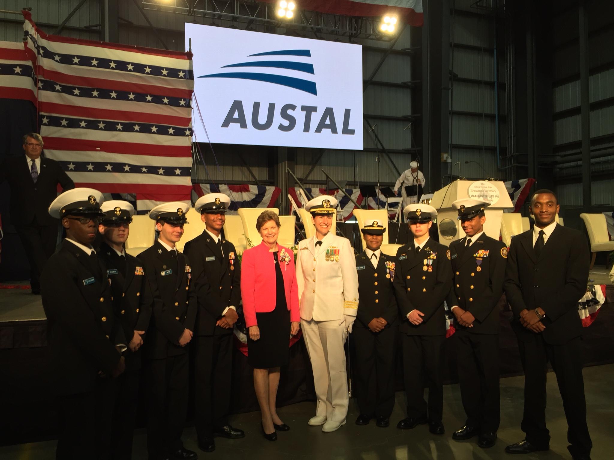SHAHEEN CHRISTENS USS MANCHESTER, NEW LITTORAL COMBAT SHIP