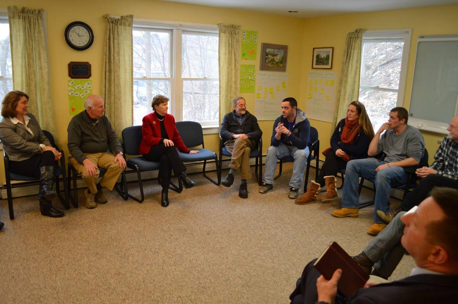 Senator Shaheen had the opportunity to speak with staff and clients at Headrest in Lebanon about the center's work providing addiction recovery services. Shaheen heard firsthand about the challenges facing those in recovery and how the federal government can provide more support.