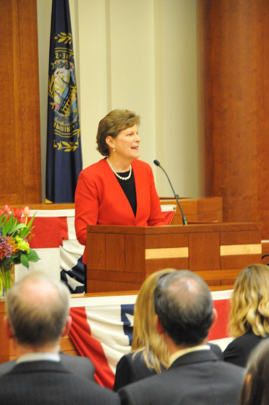 Senator Shaheen offered remarks at the official swearing in ceremony for Emily Gray Rice to serve as U.S. Attorney for the District of New Hampshire in Concord. Rice replaces former New Hampshire acting U.S. Attorney, Donald Feith. Last year, Shaheen wrote to President Obama in support of Rice's nomination. The Senate approved the nomination of Rice in December of last year.