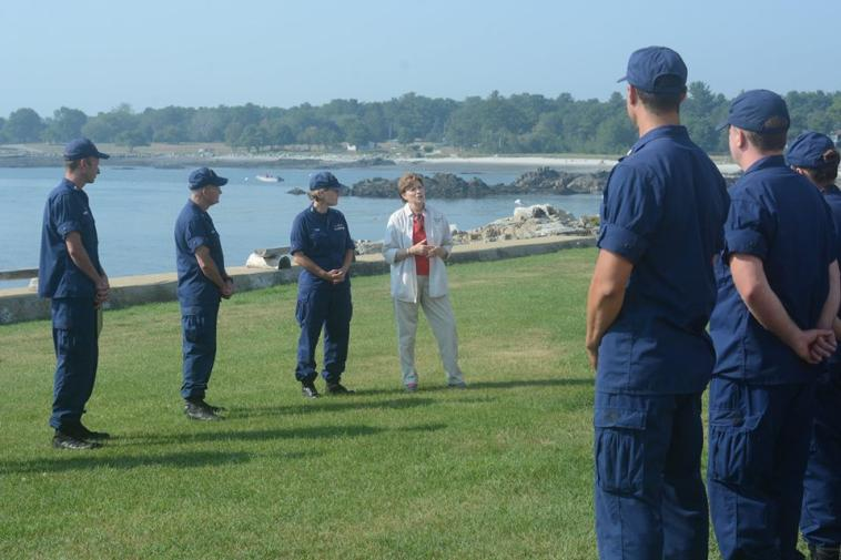 Senator Shaheen with Members of the US Coast Guard in New Castle