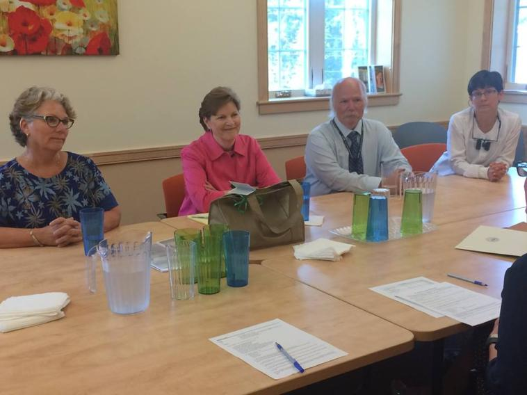 Senator Shaheen at Ammonoosuc Community Health Services in Littleton