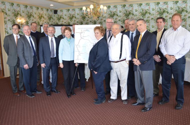 "Senator Shaheen joined state and local officials in Whitefield to announce a project that will expand cell and broadband service to communities in northern New Hampshire. The project will utilize ""WiFi Extender"" technology that uses existing communication towers and provides ""carrier neutral"" 4G LTE voice and data service and high-capacity broadband with a much lower infrastructure investment. Read more here: http://1.usa.gov/1GoZjWp"