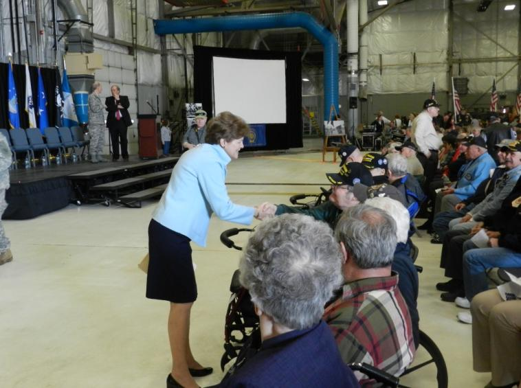 Senator Shaheen attended the Seacoast Area Vietnam Veterans Welcome Home Ceremony at Pease Air National Guard Base in Newington to give remarks honoring the service of New Hampshire veterans who served in Vietnam.