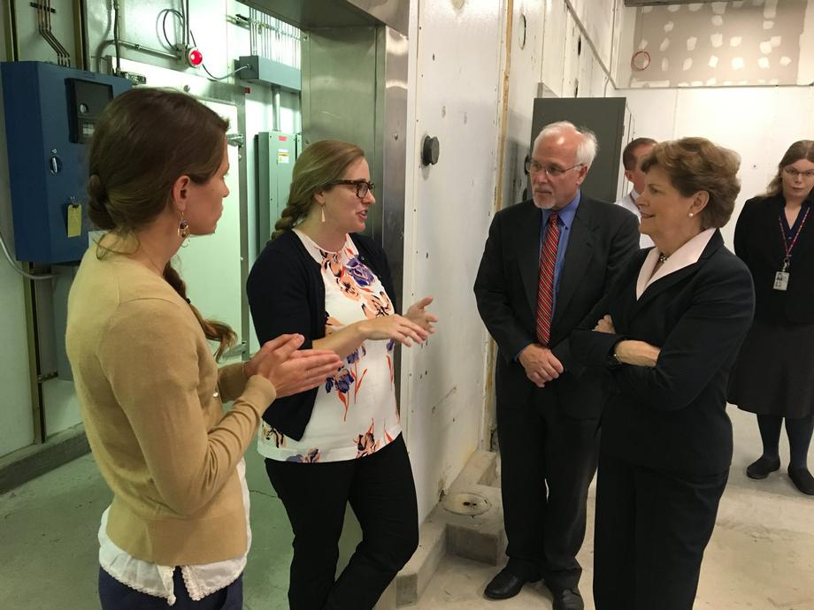 In Hanover, Senator Shaheen visits the Cold Regions Research and Engineering Lab.
