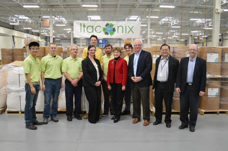 Senator Shaheen visited Itaconix Corporation in Stratham and met with company officials during a tour of the facility. The company specializes in developing bio-based specialty chemicals that improve safety, performance and sustainability in a wide range applications and consumer products.