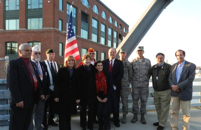 Senator Shaheen took part in a ceremony re-dedicating a plaque on the Memorial Bridge in Portsmouth that honors New Hampshire and Maine veterans.