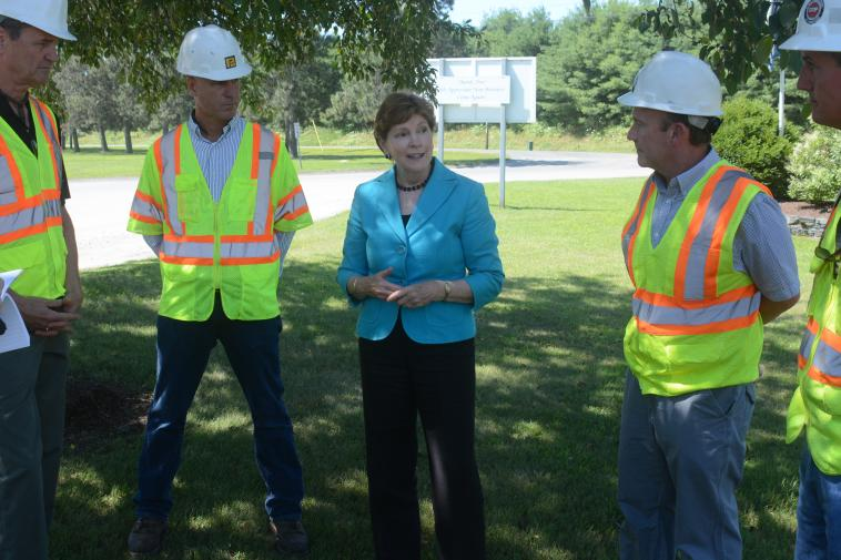 Senator Shaheen at Pike Industries Lebanon Crushed Stone
