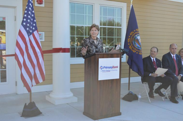 Senator Shaheen at the Ribbon Cutting of Primary Bank in Bedford