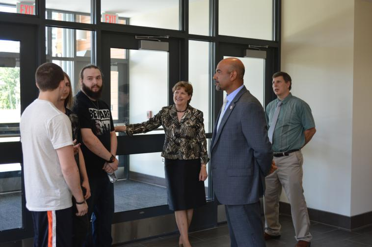 Senator Shaheen at the Manchester Job Corps Center