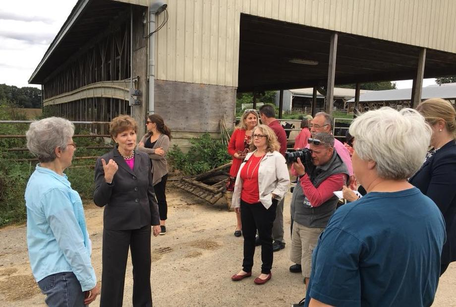 Senator Shaheen spending the afternoon with farmers and stakeholders at Stuart Farm.