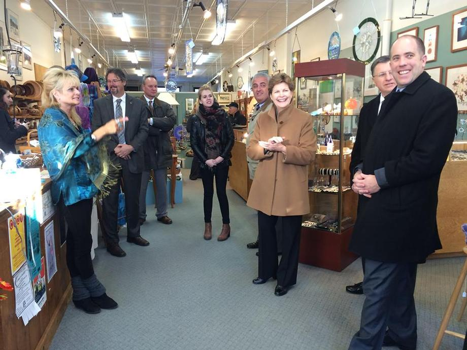Senator Shaheen in Downtown Concord