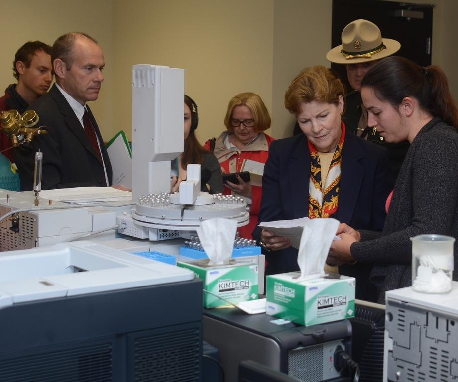 Senator Shaheen Tours the NH State Police Forensics Laboratory in Concord