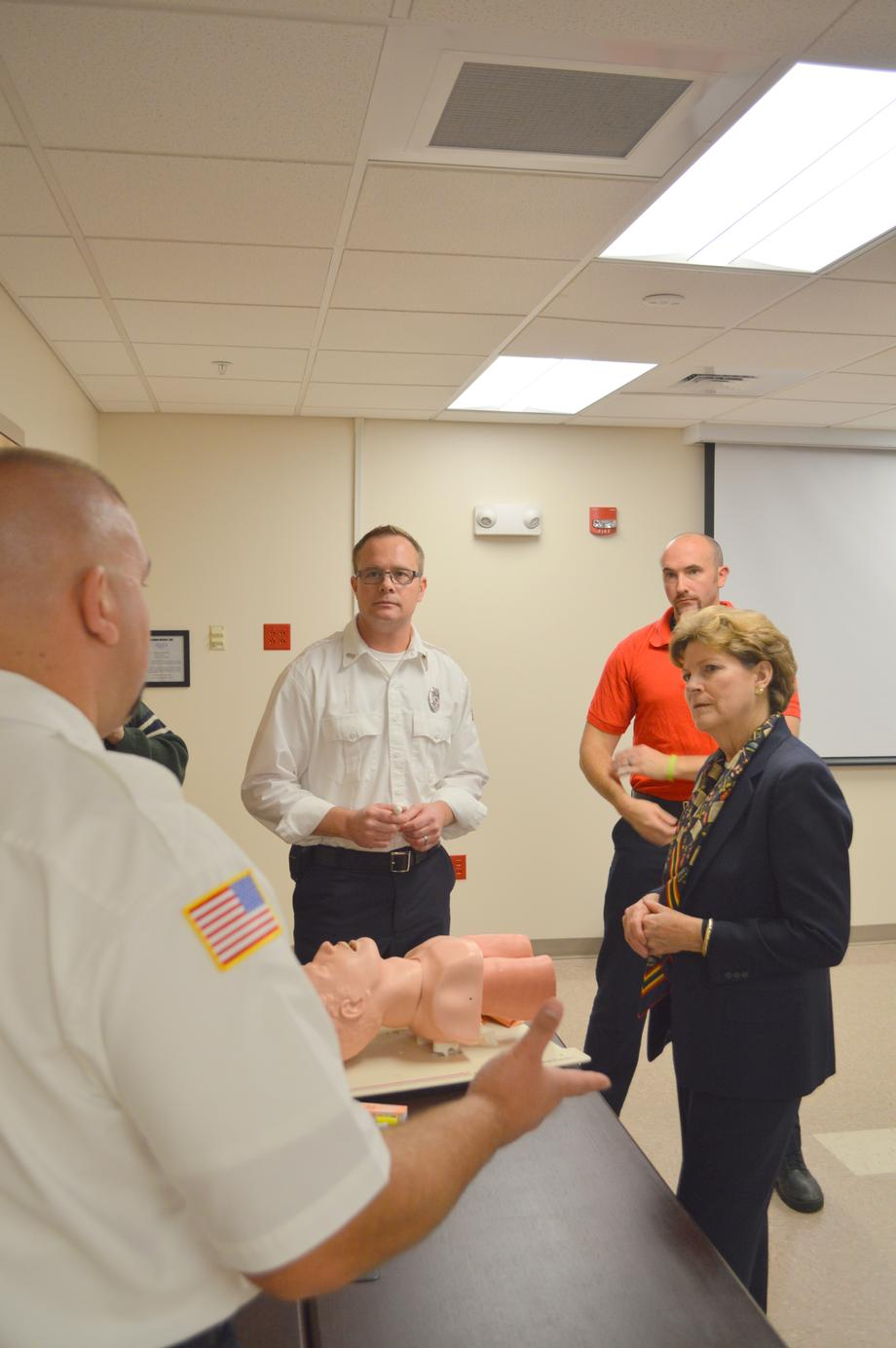 Senator Shaheen Receives a Narcan Demonstration at the Hampton Fire Department