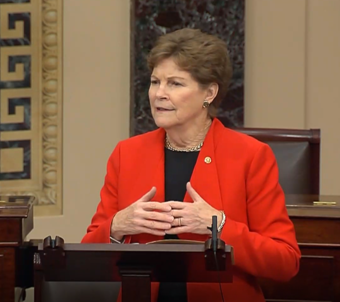 Shaheen on senate floor