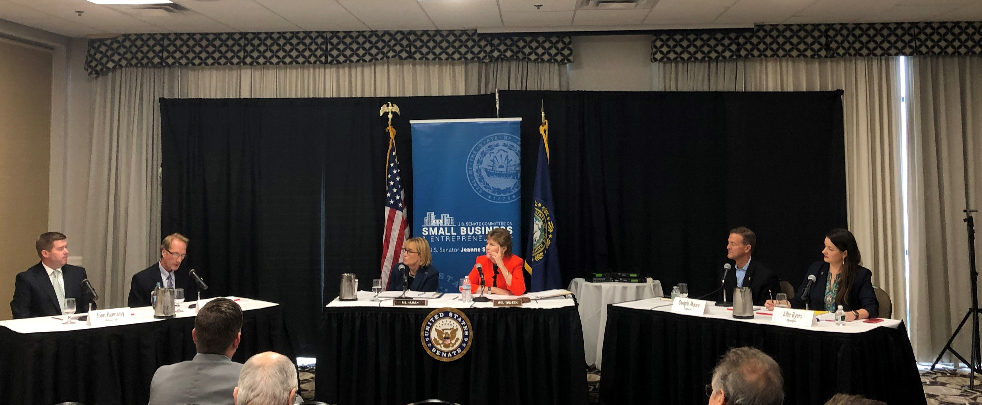 Senators Shaheen and Hassan hear from Granite State small business owners about the impact of the internet sales tax collection requirement during a Small Business and Entrepreneurship Committee field hearing in Concord.